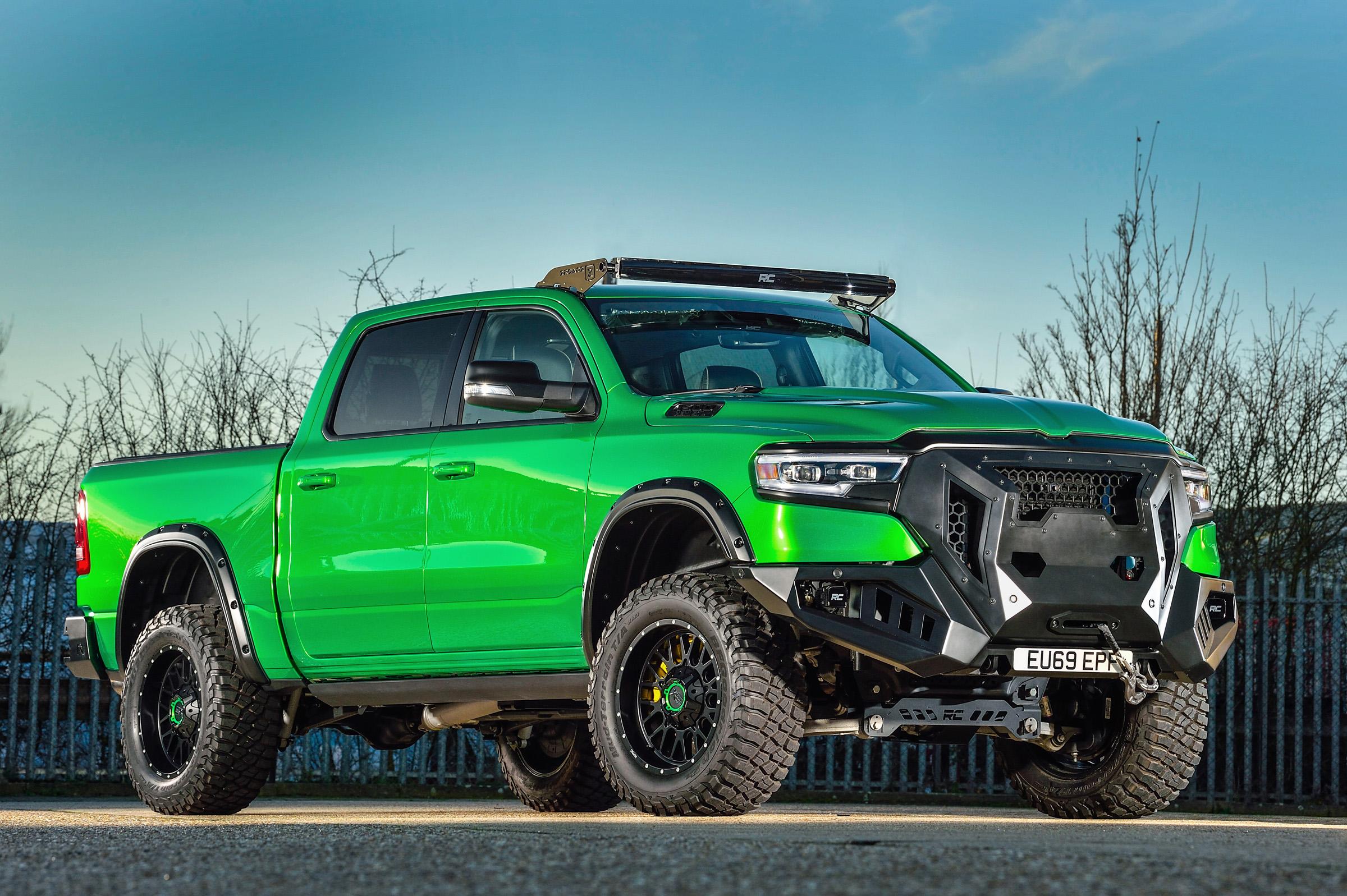 American Bespoke Pickup by David Boatwright UK Ramtrucks Dodge Ram Green