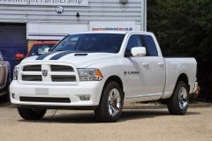 2012 Dodge Ram Quad Sport in white