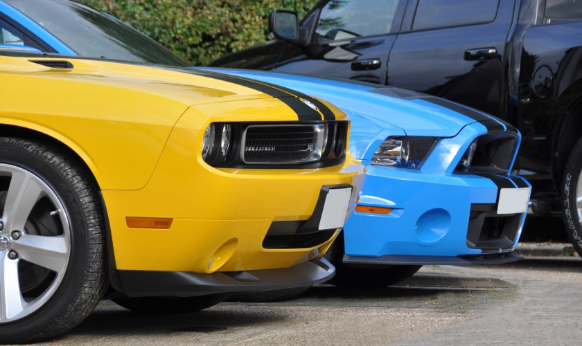 Challenger SRT8 and Mustang Shelby