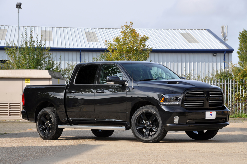 Dodge Ram Crew Sport Black Wheels