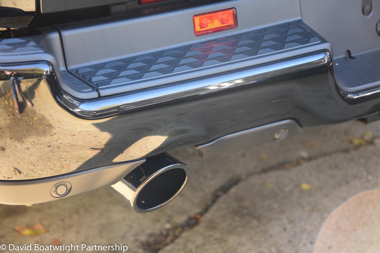 Black exhaust tips