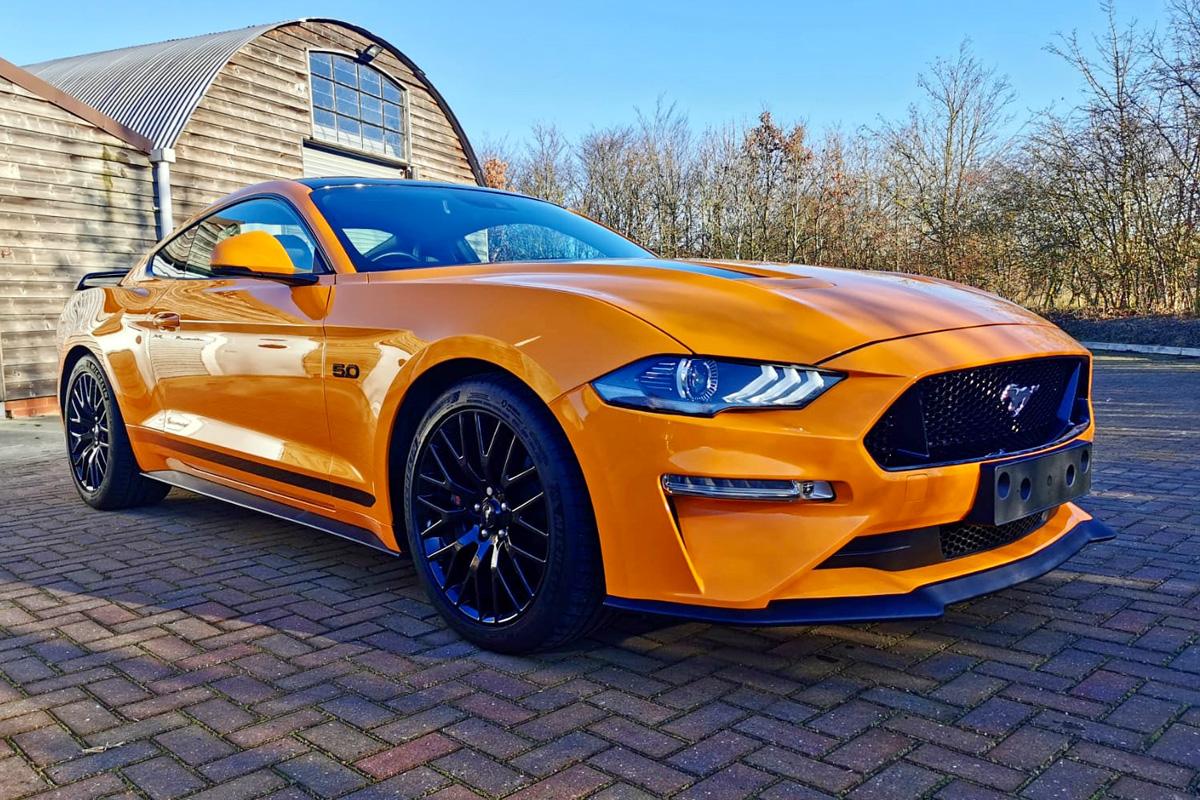Mustang GT V8 Orange Fury 2018